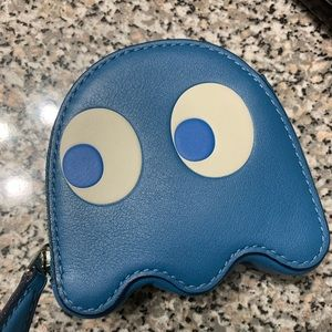 Brand new Blue Coach x Pac-Man Coin Purse Wallet
